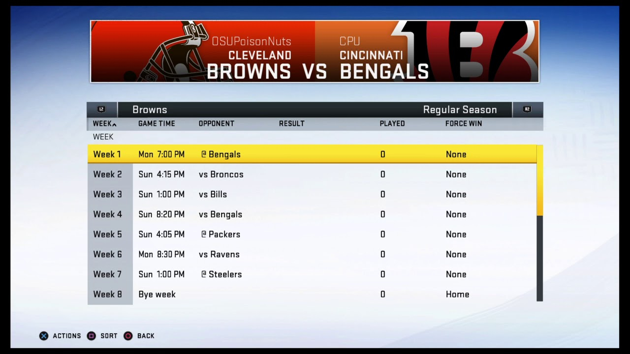 Cleveland Browns 2021 Simmed Season Schedule Reveal