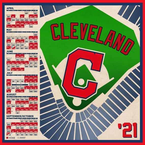 Cleveland Indians 2021 Schedule Print Etsy