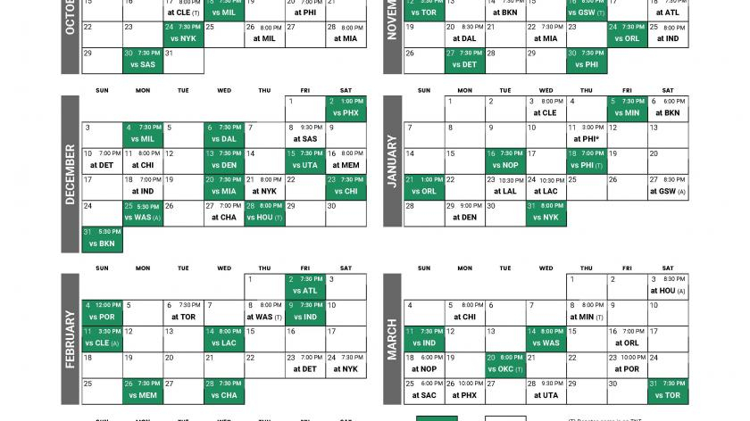 Click Here For Printable 2017 18 Boston Celtics Schedule RSN