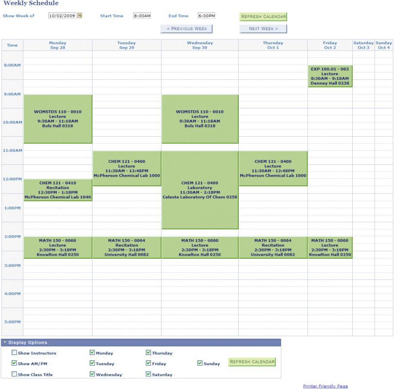 College Class Schedule Template Template Business
