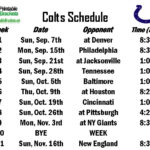 Colts Schedule Indianapolis Colts Schedule