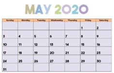 Cute May 2020 Calendar Schedule A Reminder For You With