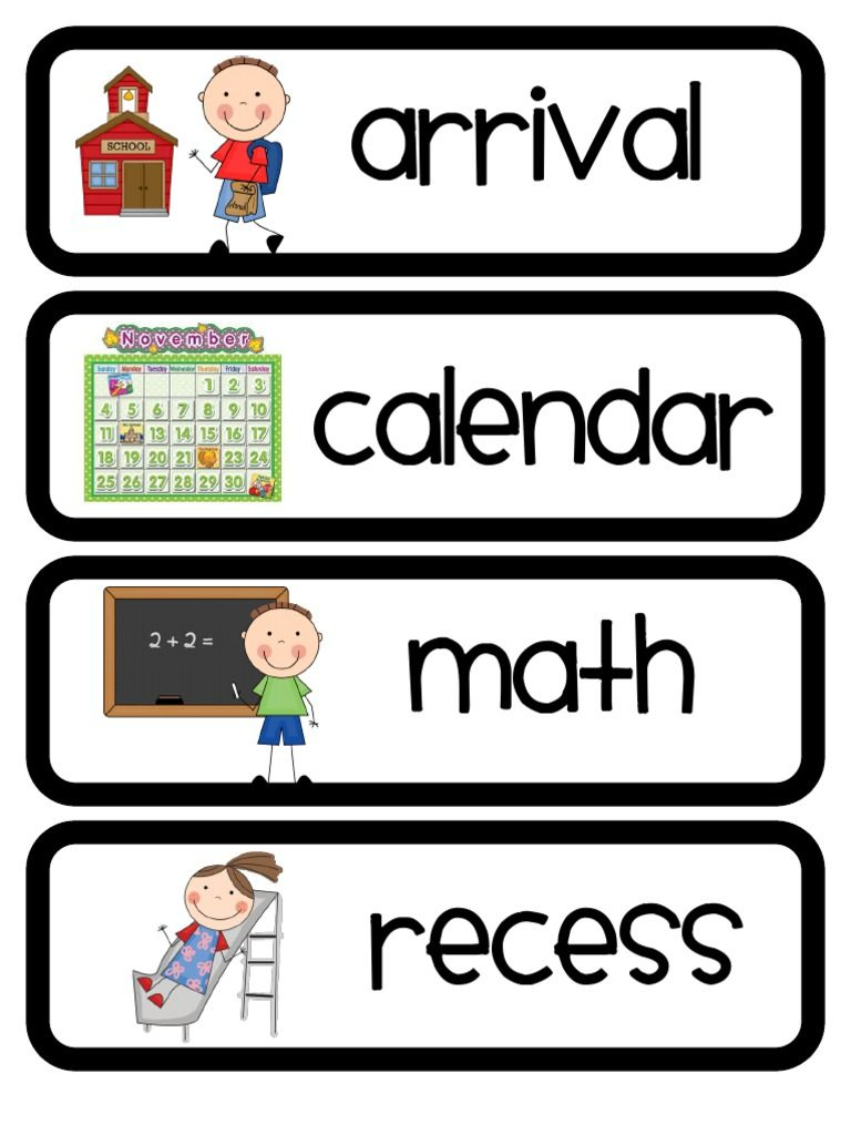 Daily Schedule Cards2 Free Download As PDF File pdf