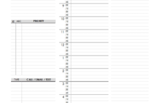 Daily Schedule Planner Template Free Printable Templates