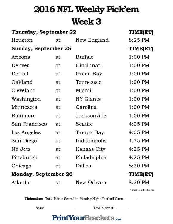 DAR Sports NFL Week 3 Preview DefineARevolution
