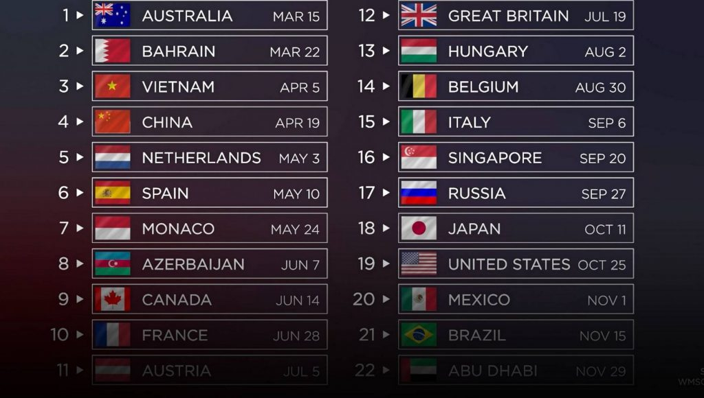 F1 Unveils 2021 Season Calendar RacingNorth Driving