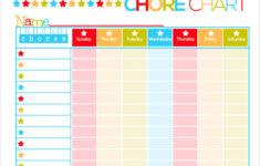 Free Printable Kids Schedule