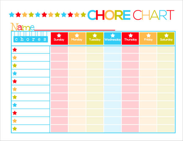 FREE 9 Kid s Chore Schedule Templates In PDF MS Word