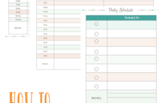 Free Homeschool Weekly And Daily Schedule Printables