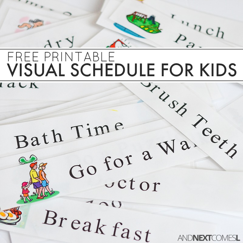Free Printable Daily Visual Schedule And Next Comes L
