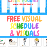 Free Printable Daily Visual Schedule Little Puddins