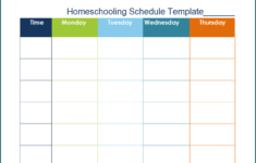 Free Printable Homeschooling Schedule Template Bogiolo