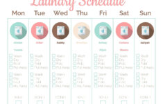 Free Printable Laundry Schedule Fillable To Let You List