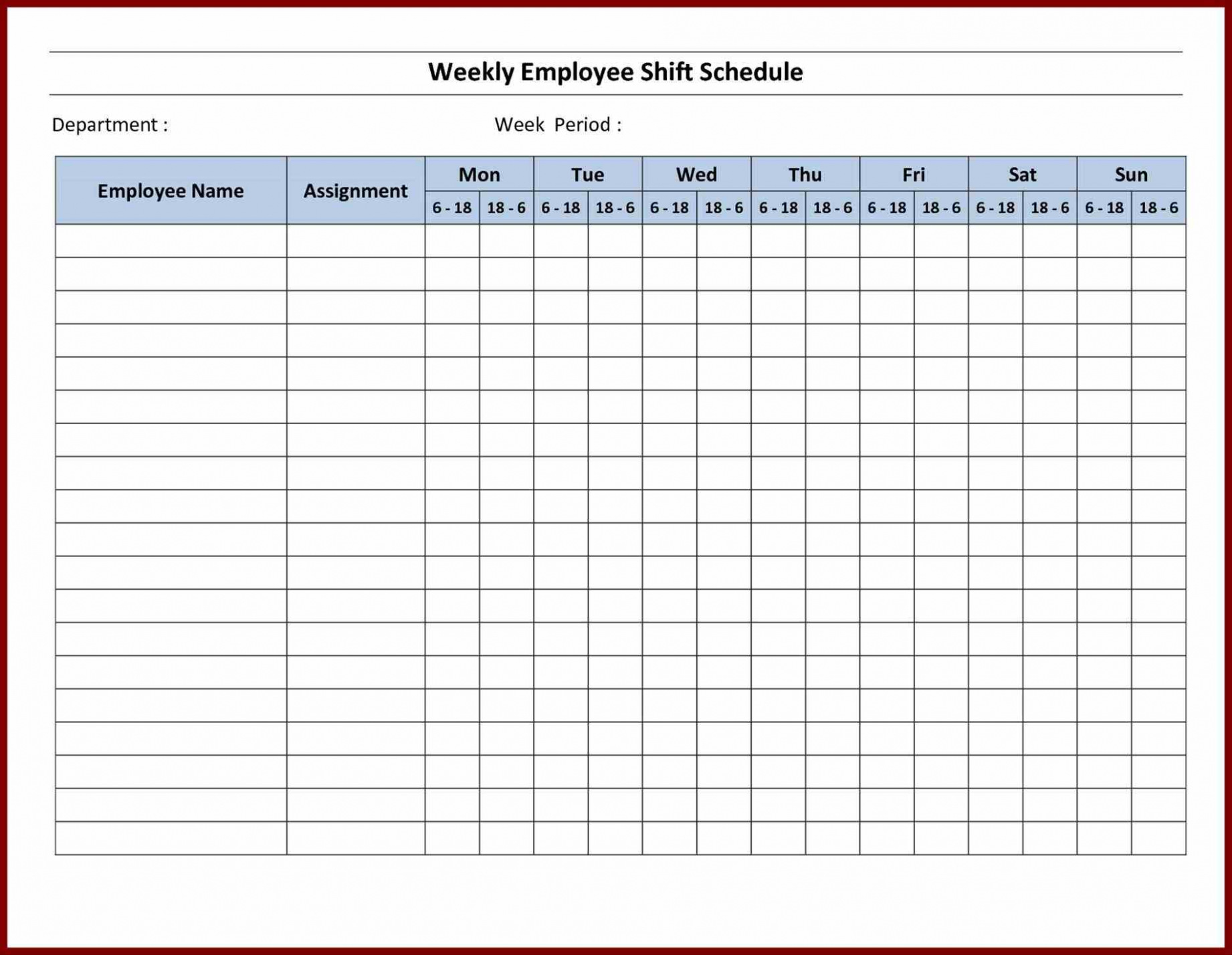 Free Printable Schedule Maker Template Business PSD