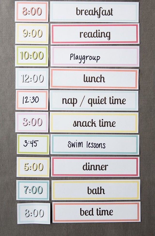 Free Printable Setting Up A Simple Routine With Kids