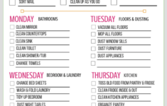 Free Printable Weekly Cleaning Schedule Money Saving Mom