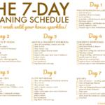 FREE Printable Weekly House Cleaning Schedule Viva Veltoro