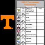 Get Your 2018 Tennessee Volunteers Football Schedule