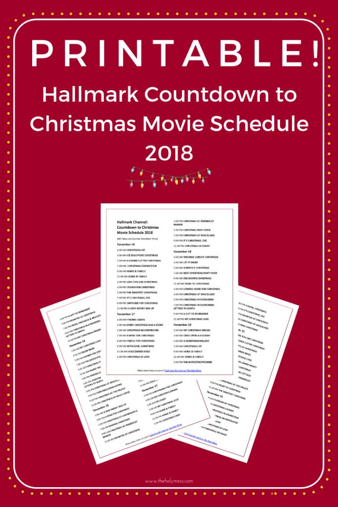Hallmark Channel Countdown To Christmas Movie Schedule