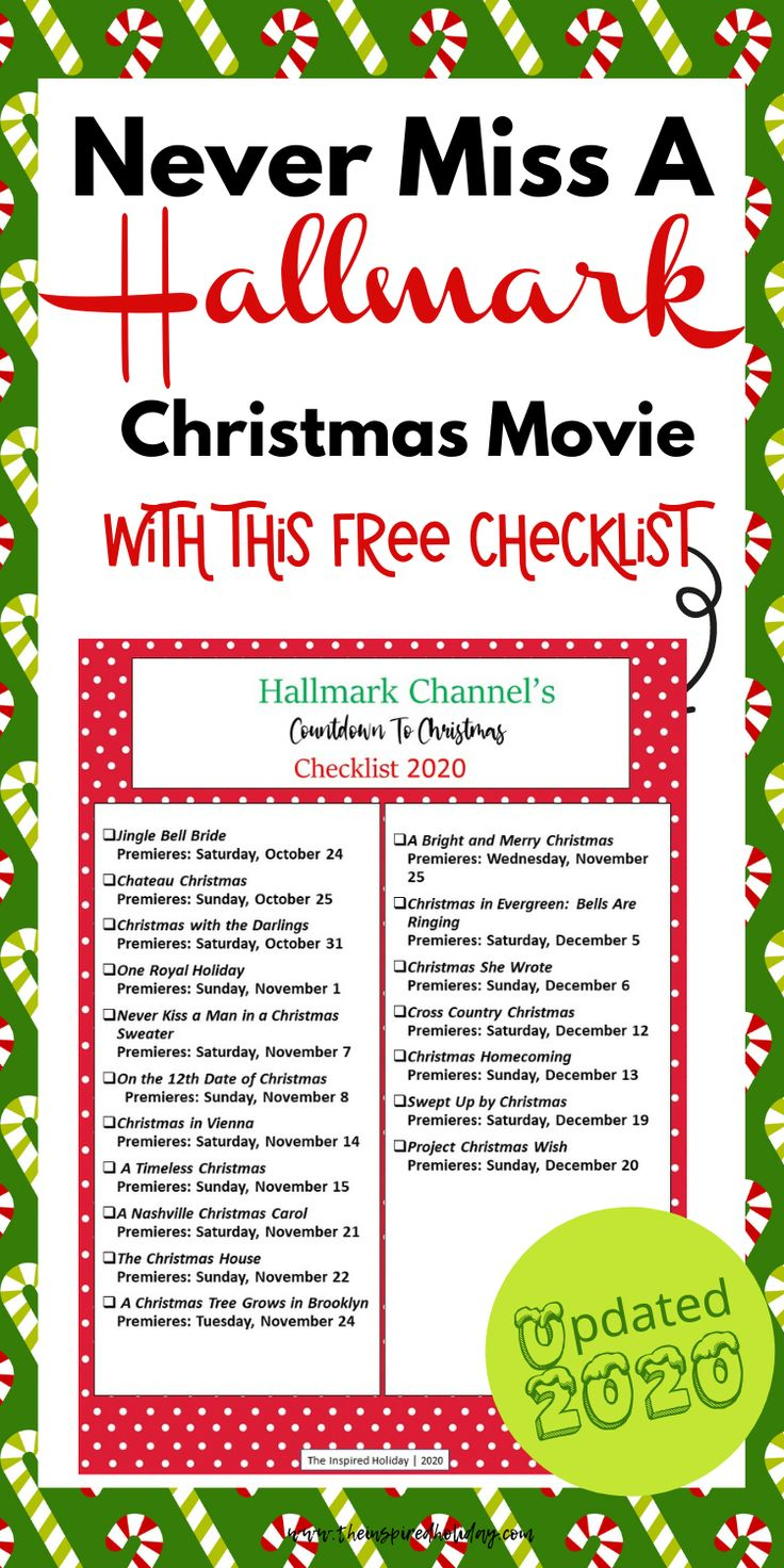 Hallmark Countdown To Christmas 2020 Schedule Is HERE In