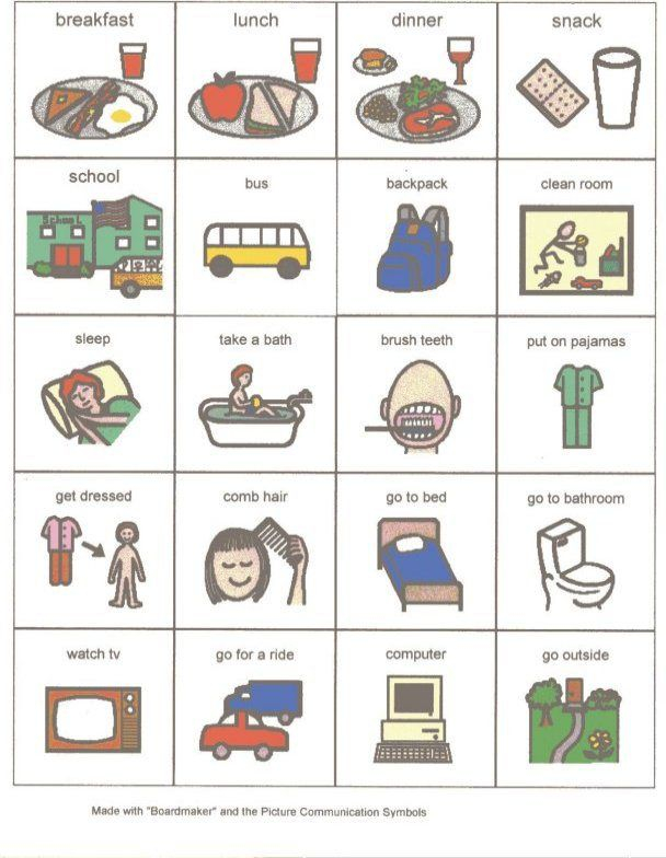 Home Picture Schedule Visual Schedule Autism Visual