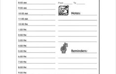 Hourly Schedule Template 34 Free Word Excel PDF
