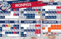 IronPigs Release 2018 Regular Season Schedule MiLB