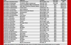 IU Basketball 2020 21 Schedule Printable The Daily Hoosier
