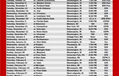 IU Basketball Printable Schedule 2019 20 The Daily Hoosier