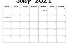 July 2021 Calendar PDF July 2021 Calendar Image Print