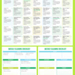 Maintain A Clean Home Printable Cleaning Schedule