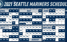 Mariners Open The 2021 Season At T Mobile Park On April 1