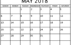 May Schedule Template Funfin