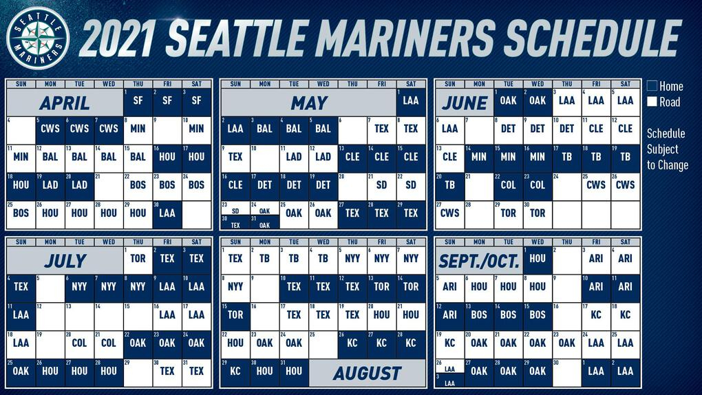 MLB Releases 2021 Schedule Mariners Set To Open At T