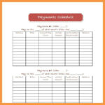 Monthly Bill Payment Schedule Template Budget Planner