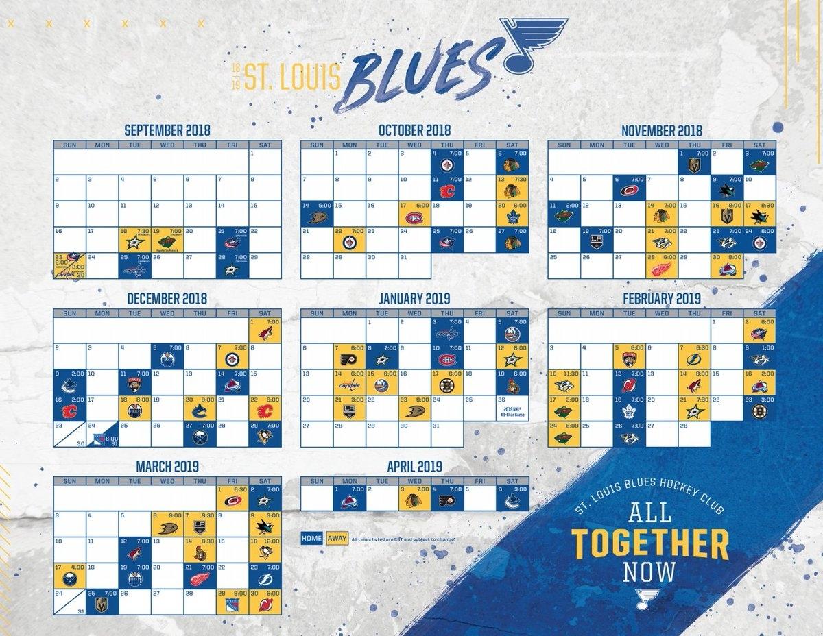 Nashville Predators Schedule 2019 20 Printable Calendar