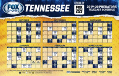 Nashville Predators Schedule 2019 2020 Season FOX Sports
