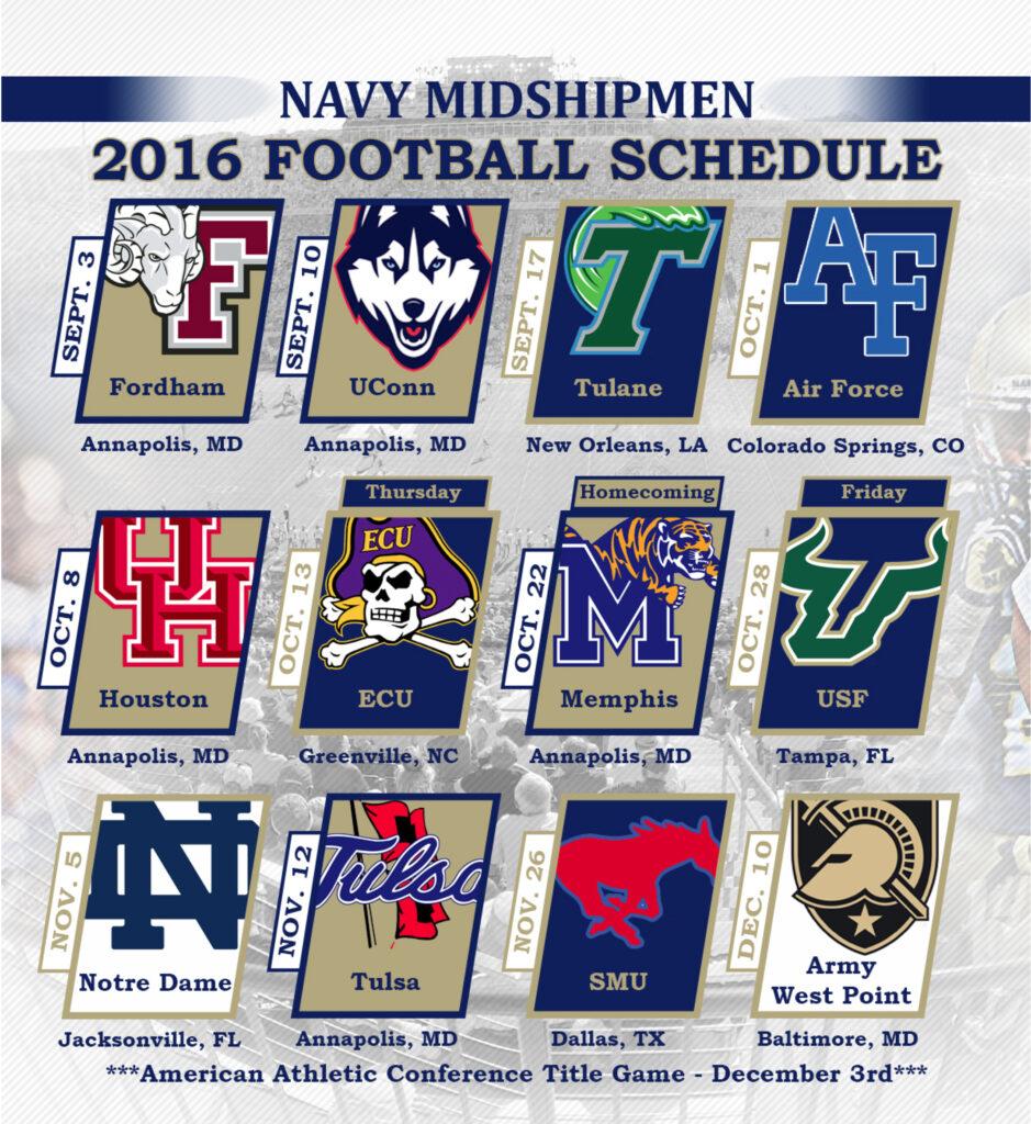Navy Football Schedule 2020