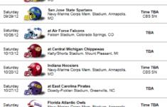 Navy Midshipmen 2012 Football Schedule Team Schedule