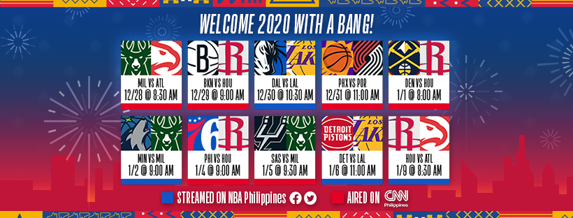 NBA Standings 2020 Schedule Results Team Pilipinas