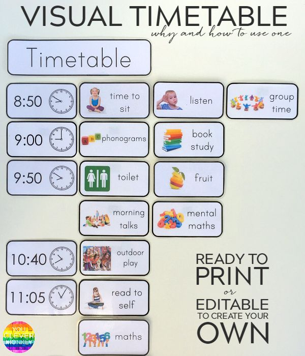 Need A Great Visual Schedule This Editable Visual