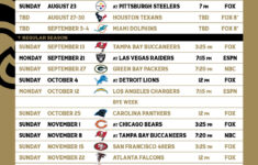 New Orleans Saints Release Schedule For 2020 Season