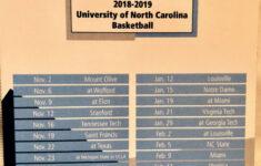 North Carolina Tar Heels Basketball Schedule Examples