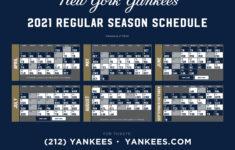 Yankees Printable Schedule 2021