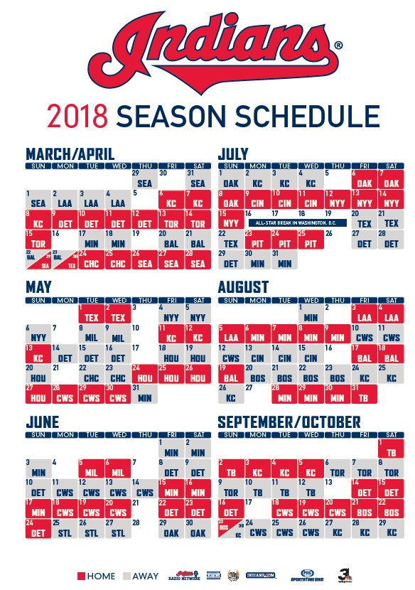 Obsessed Cleveland Indians Printable Schedule Obrien s