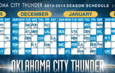 OKC Thunder Basketball Schedule