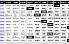 Printable 2012 Big Ten Football Schedule Big Ten