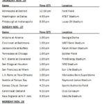 Printable 2016 NFL Week 12 Schedule Nfl Week Nfl Schedule