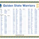 Printable 2017 2018 Golden State Warriors Schedule