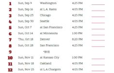 Az Cardinals Schedule Printable